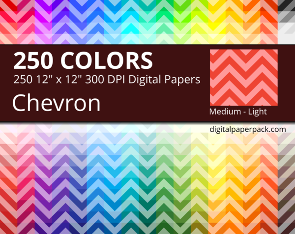 Medium lightly colored chevron on colored background