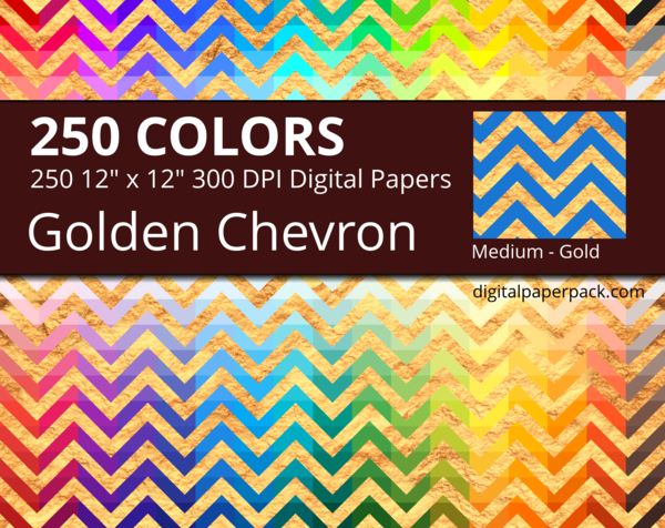 Medium golden chevron on colored background with a gold texture