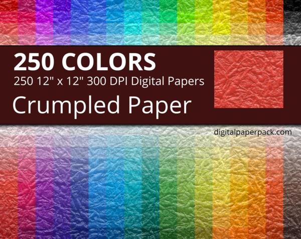 Seamless crumpled paper texture.