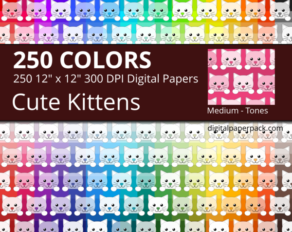 Cute kittens with different tones.