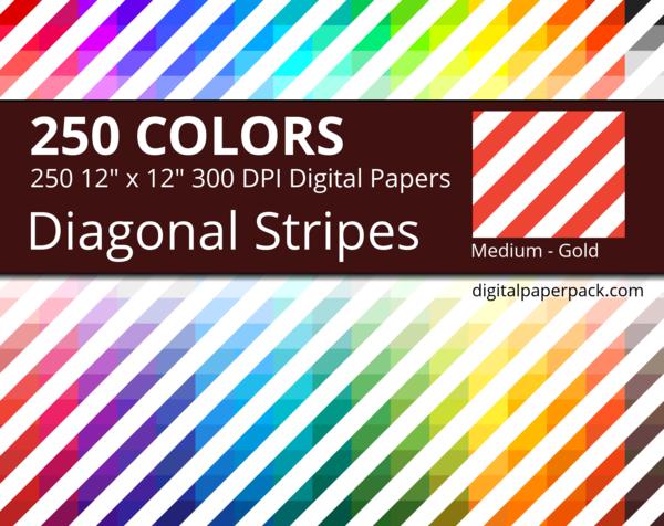 Medium white diagonal stripes on colored background