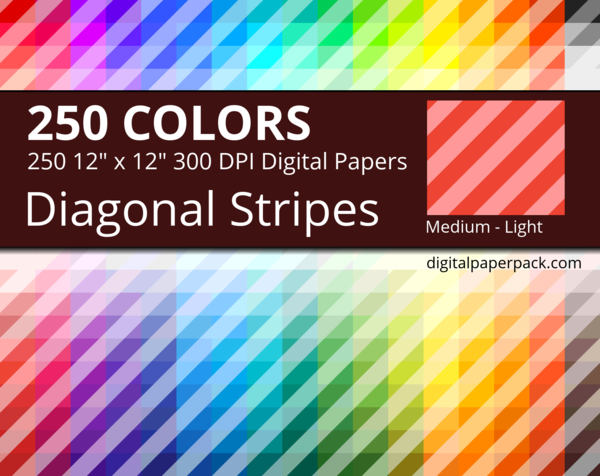 Medium lightly colored diagonal stripes on colored background