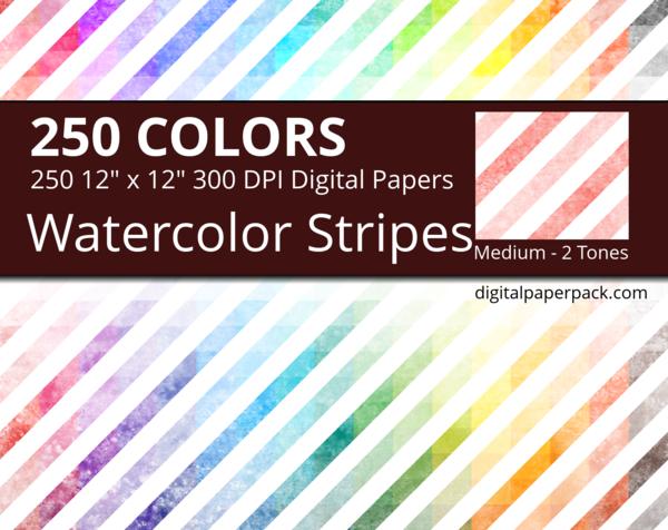 Medium watercolor diagonal stripes on white background