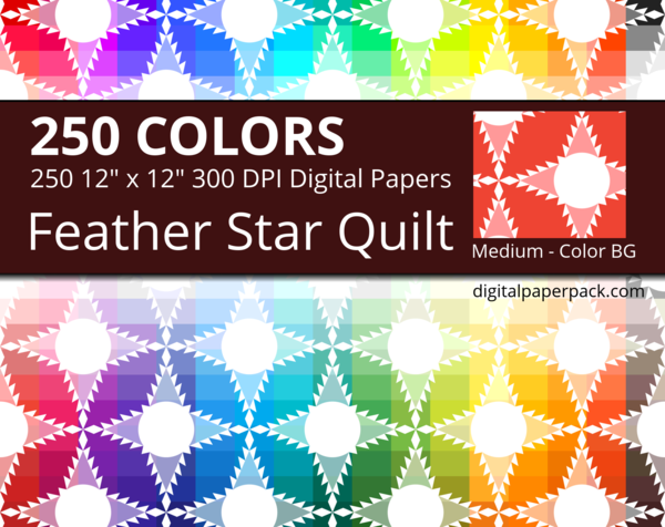 Feathered stars quilt pattern.