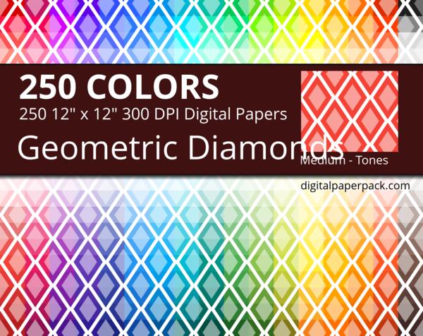 Medium geometric diamonds pattern with 2 tones.