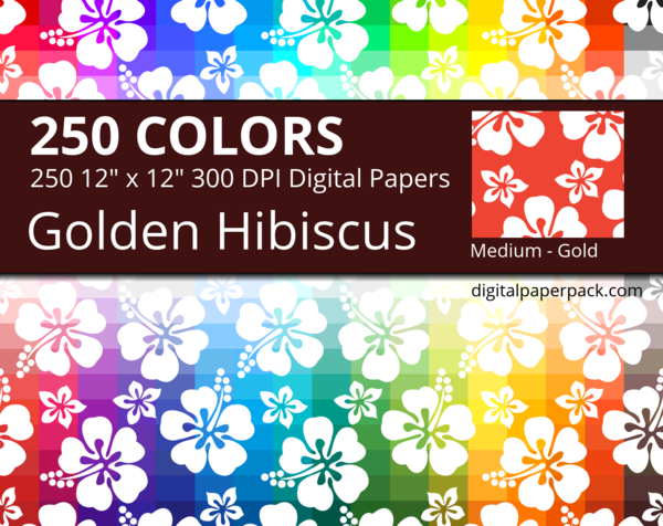 Medium white Hawaiian hibiscus flowers on colored background