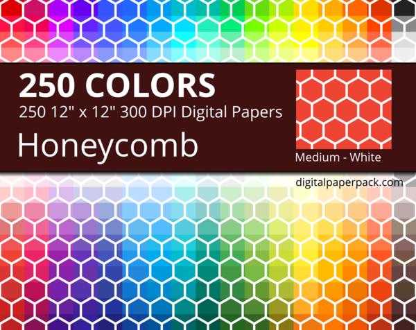 Medium white honeycomb on colored background