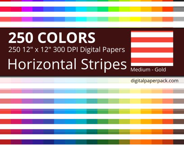 Medium white horizontal stripes on colored background