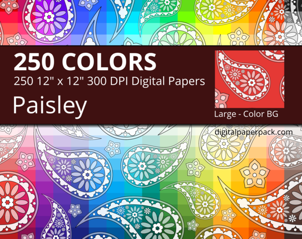 Large flower paisley pattern on a colored background.