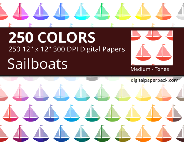 Sailboat pattern with different tones.