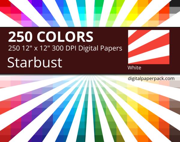 Medium white starburst / sunburst on colored background