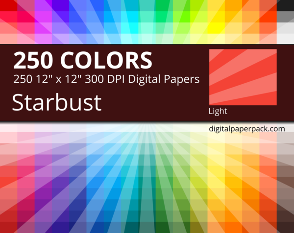 Medium lightly tinted starburst /sunburst on colored background