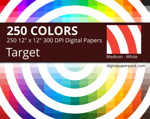 Medium white target on colored background