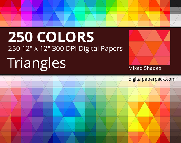 Medium triangles pattern with mixed shades.