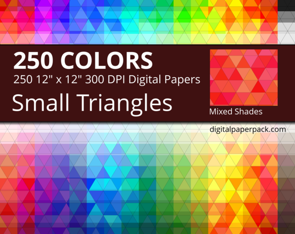 Small triangles pattern with mixed shades.