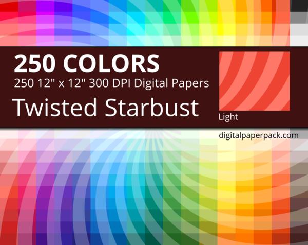 Medium lightly tinted twisted starburst /sunburst swirl on colored background