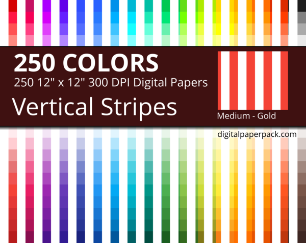 Medium white vertical stripes on colored background