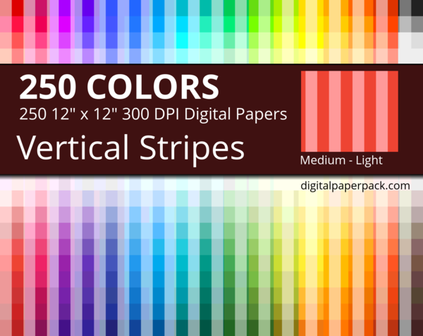 Medium lightly colored vertical stripes on colored background