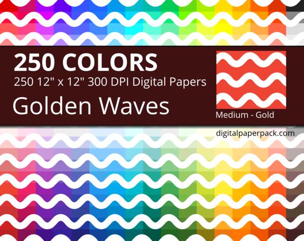 Medium white waves on colored background