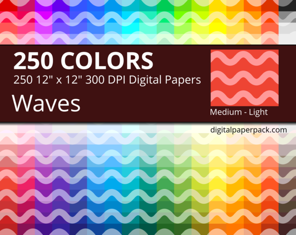 Medium lightly colored waves on colored background